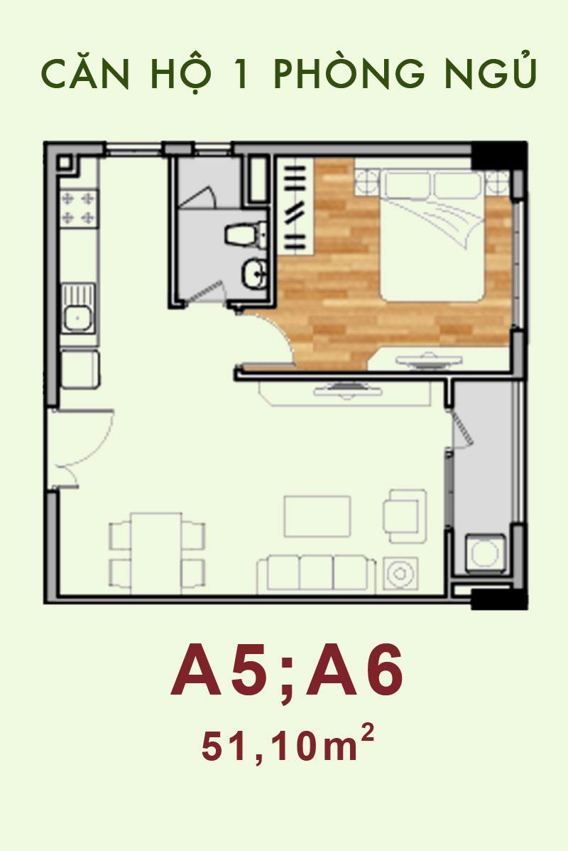 Bản vẽ căn hộ A5, A6