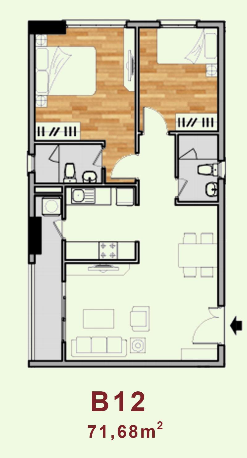 Bản vẽ căn hộ B12